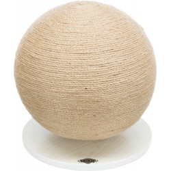Trixie Ball-shaped scratching post, round shape for cats mounted on a tray. Griffoirs