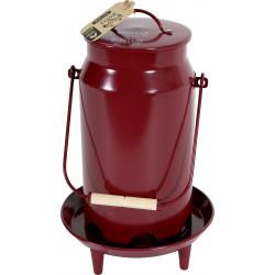 zolux Metal manger broc bucket . ø 24 x 39 cm. garnet color. for low yard. Mangeoire