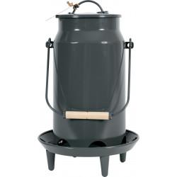 zolux Metal manger broc bucket . ø 24 x 39 cm. slate color. for low yard. Mangeoire