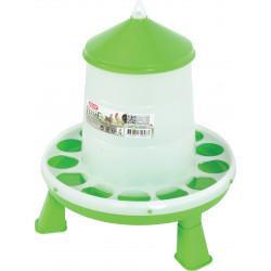 zolux Plastic silo feeder with feet. capacity 2 kg. low yard. Mangeoire