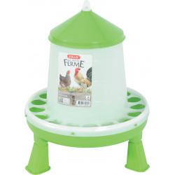 zolux Plastic silo feeder with feet. capacity 4 kg. low yard. Mangeoire