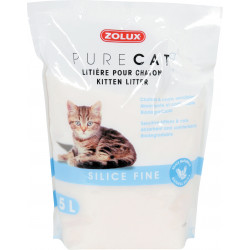 zolux Pure cat litter for kittens. fine silica. biodegradable. 5 liters. for kittens. Litter