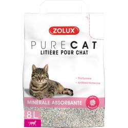 zolux Litière pure cat minérale absorbante parfumée. 8 litres. pour chats. Litiere