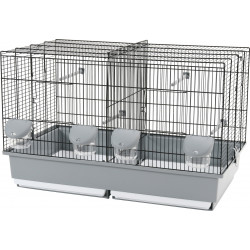 zolux Breeding cage 67 black and grey. D.70 x 40 x 44 cm. for birds. Cages, aviaries, nest boxes