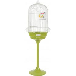 zolux Cage Arabesque Léonie 50 on feet. olive. Dimension: ø 49.5 cm x 140 cm. for birds. Cages, aviaries, nest boxes