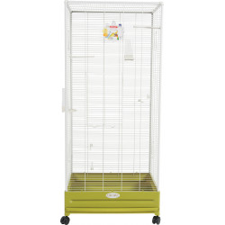 zolux Aviary Arabesque Camille 55. Olive. Dimension: 55 x 66 x 152 cm . for birds. Volieres oiseaux