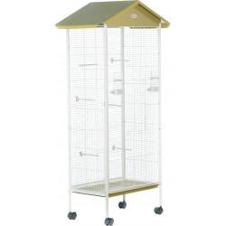 zolux Aviary Arabesque Jeanne 78. Olive. Dimension: 78 x 48 x 156 cm . for birds. Volieres oiseaux