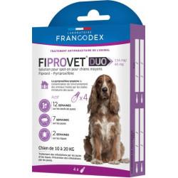 francodex 4 Anti-Floh-Pipetten fiprovet duo für kleine Hunde 10 bis 20 kg FR-170123 Pipetten zur Schädlingsbekämpfung