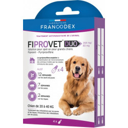 francodex FR-170124 4 anti flea pipettes fiprovet duo for small dogs 20 to 40 kg Pest control pipettes