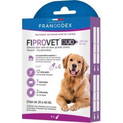 francodex 4 Anti-Floh-Pipetten fiprovet duo für kleine Hunde 20 bis 40 kg FR-170124 Pipetten zur Schädlingsbekämpfung