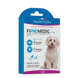 francodex 4 Fipromedic-Pipetten 67 mg. Für kleine Hunde von 2 kg bis 10 kg. antiparasitär FR-170352 antiparasitär