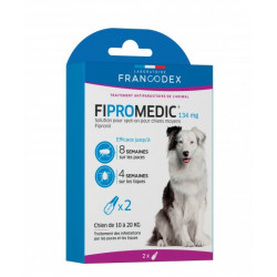 francodex FR-170358 2 Fipromedic pipettes 134 mg. For dogs from 10 kg to 20 kg. antiparasitic anti-parasitic