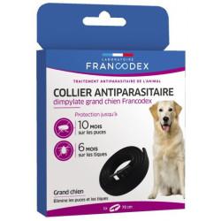 francodex 1 Dimpylat-Schädlingsbekämpfungshalsband 70 cm. für Hunde. Farbe schwarz FR-172495 schädlingsbekämpfungskragen