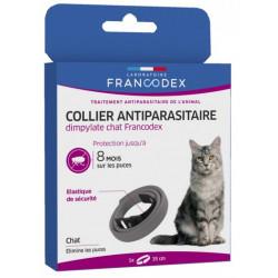Francodex Dimpylate Pest Control Collar For Cats. 35 cm. grey colour. ANTIPARASITAIRE