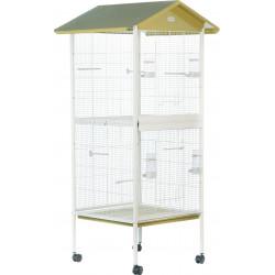 zolux Aviary Arabesque Mathilde 78. Olive. Dimension: 78 x 74.5 x 165 cm . for birds. Volieres oiseaux