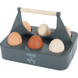 zolux Porte œufs en métal ardoise. 21.5 x 15 x 14.5 cm. basse cour. ZO-175651 Basse cour
