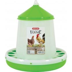 zolux Plastic silo feeder . capacity 4 kg. low yard. Mangeoire