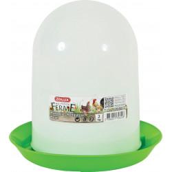 zolux Plastic silo feeder . capacity 2 kg. low yard. Mangeoire