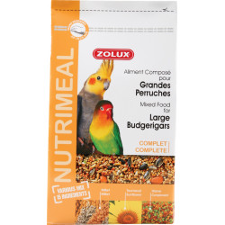 zolux ZO-139077 Compound feed for large parakeets. nutrimeal. 2.5 kg. for birds Birds