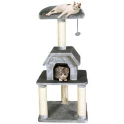 Flamingo Pet Products Cat tree Bellavista. 56 x 56 x Height 128 cm. grey color. Arbre a chat, griffoir