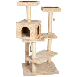 Flamingo Pet Products Cat Tree Makalu. 71 x 60 x Height 150 cm. beige color. Arbre a chat, griffoir