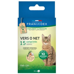 Francodex antiparasitic 15 tablets Vers O Net for cat ANTIPARASITAIRE