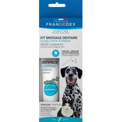 francodex Zahnbürstenset für Hunde und Katzen FR-172360 Pflege und Hygiene