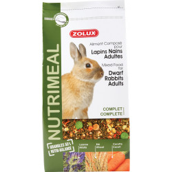 zolux Compound food for adult dwarf rabbits. 800 g sachet for rodents. Nourriture lapin