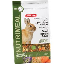 zolux Mischfutter für erwachsene Zwergkaninchen. 2,5 kg Beutel. für Nagetiere. ZO-210172 Kleintiere und Nagetiere