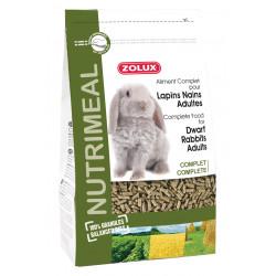 zolux Alleinfuttermittel für erwachsene Zwergkaninchen. 800 g Beutel für Nagetiere. ZO-210186 Essen und Trinken