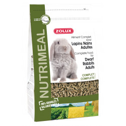 zolux Complete food for adult dwarf rabbits. 800 g sachet for rodents. Nourriture lapin