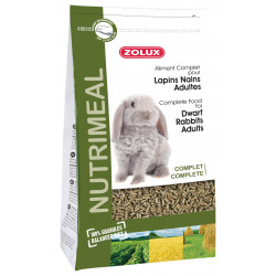 zolux Complete food for adult dwarf rabbits. 2.5 kg bag. for rodents. Nourriture lapin