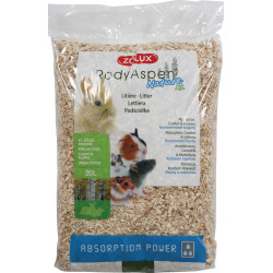 zolux Rodyaspen nature XL 20 L. Litter for rodents. weight 3.06 kg Hay, litter, shavings