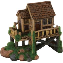 Modelo de cabana média ki push. 16 x 9 x 15 cm. Decoração de aquário. ZO-352182 Decoração e outros