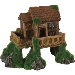 zolux Cabin small model ki push. 13 x 8 x 10 cm. Aquarium decoration. Decoration and other