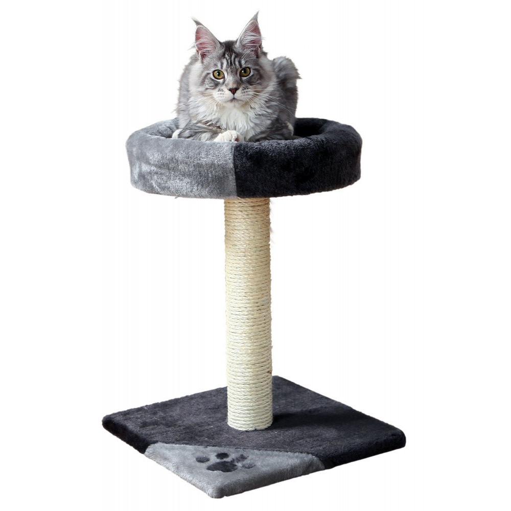 TR-43712 Trixie Arbre à chat, taille 35 par 35 cm, hauteur 52 cm, Tarifa, couleur noir et gris. Arbre a chat, griffoir