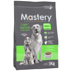 MASTERY aliment pour chien et chat MA-482210 Light kibble for sterilized dogs 3 KG Dog food