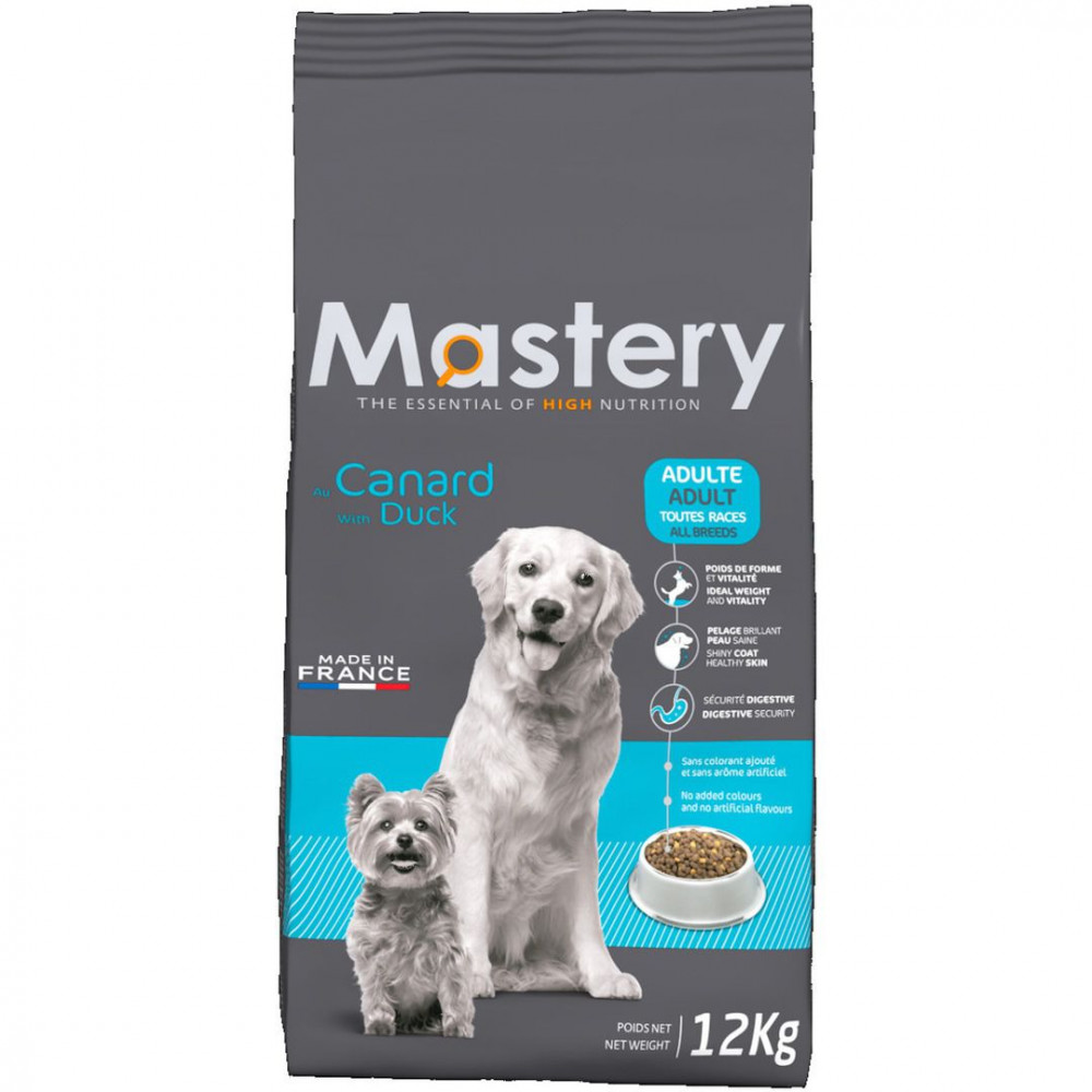 MASTERY aliment pour chien et chat MA-482206 12kg duck kibble for dogs Dog food