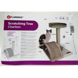 Flamingo FL-561039 Cat tree Charlton grey. 35 x 35 x 45 cm. for kitten Arbre a chat, griffoir