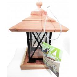 Flamingo Pet Products Silo bird feeder, wood metal plexi. 22 x 22 x 32 cm. for birds. Outdoor feeders