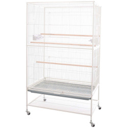 Flamingo Pet Products White sumba aviary 79 x 52 x 130 cm. for birds. Volieres oiseaux