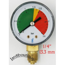 "MANOPI Pool Pressure Gauge 1/4"" Threaded Manometer Generic MANOPI"