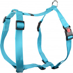 Flamingo Pet Products Harness H Ziggi turquoise. neck size 70 -110 cm. 25 MM . size XXL+. for dog. dog harness