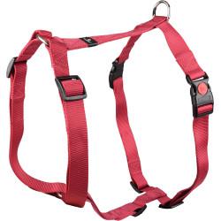 Flamingo Pet Products Harness H Ziggi red cherry. neck size 70 -110 cm. 25 MM . size XXL+. for dog. dog harness