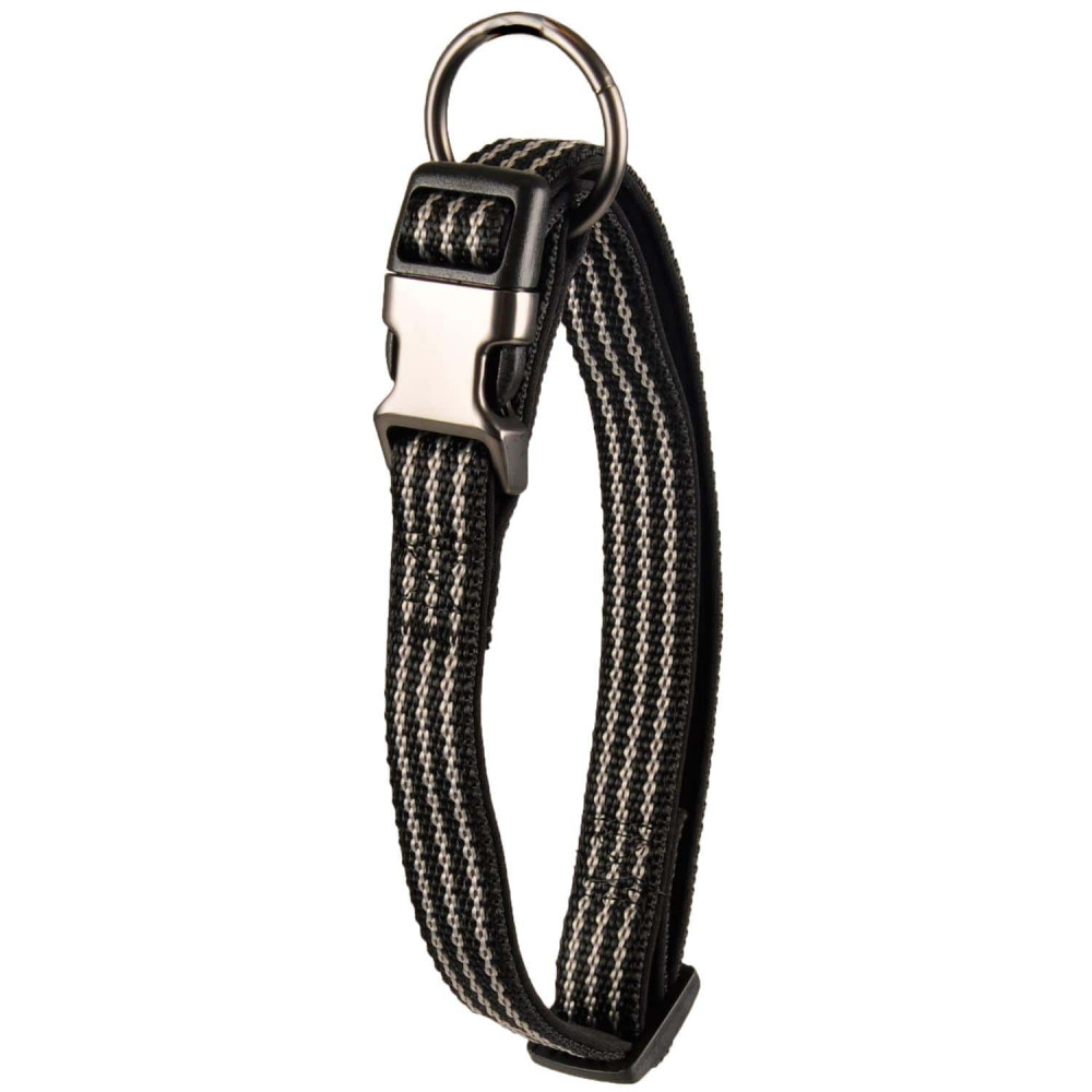 Flamingo FL-516910 Jannu black collar adjustable from 20 to 35 cm 10 mm. size S. for dog Collier nylon