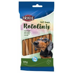 Trixie friandise chien Soft Snack Rotolinis a la volaille 120g soit 12 pieces TR-3171 Friandise chien