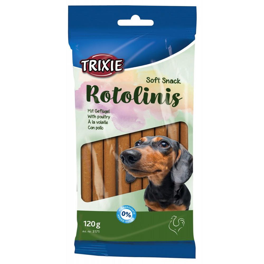 Trixie friandise chien Soft Snack Rotolinis a la volaille 120g soit 12 pieces TR-3171 Friandise chien