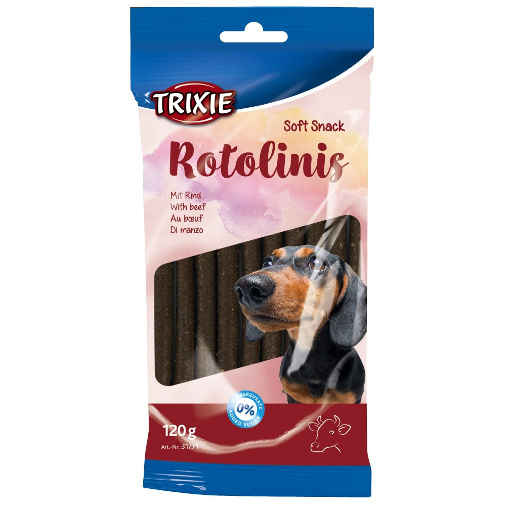 """Trixie friandise chien """"Soft Snack Rotolinis"""" au bœuf 120 g soit 12 pièces TR-31771 Friandise chien"""