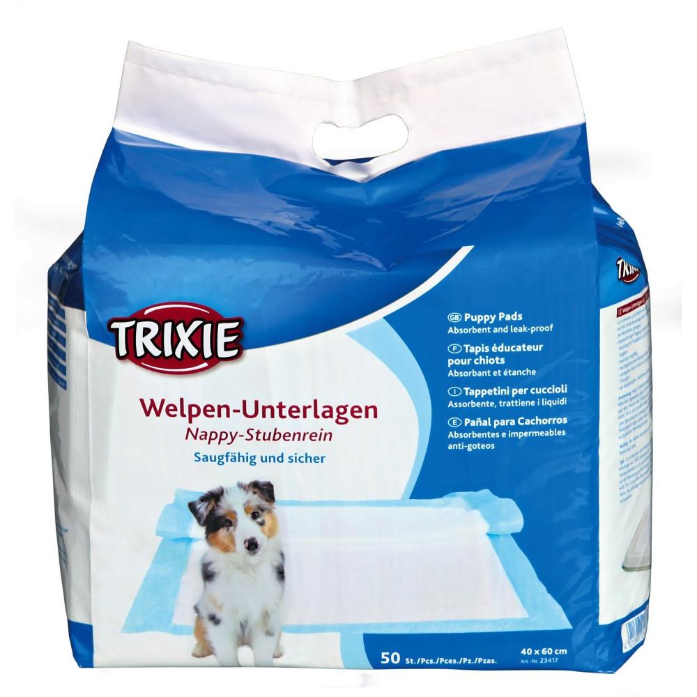 Tapis éducateur Nappy 40*60 cm pour chien 50 pieces éducation propreté chien Trixie TR-23417