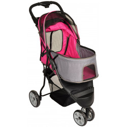 Flamingo Pet Products Pink Kiara Stroller.54 x 81 x H 99.5 cm. for Dogs Stroller and trolley